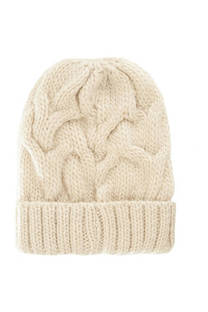 Gorro trenzado de lana premium -