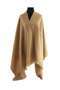 #ML10 Mantón liso premium frizado de lana desflecado  Medidas: 75 cm x 200 cm. -