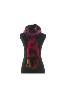 Bufandón de lana animal print.  Medidas: 50 cm x 200 cm / Peso: 200 gramos. -