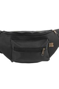 Riñonera de poliéster doble bolsillo con tira regulable con broche.  Medidas: 30 cm x 15 cm -
