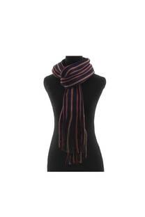 Bufanda de lana rayada con flecos. Calidad Premium  Medidas: 20 cm x 1,75 cm / Peso: 160 gramos -