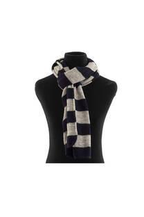 Bufanda de lana rayada de dos colores.  Medidas: 150 cm x 50 cm -