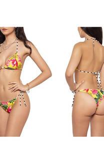 Conjunto bikini para atar con diseño.  S: 85 / 90 M: 90 / 95 L: 95 / 100 -