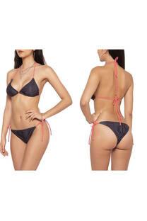 Conjunto bikini para atar con diseño reptil.  S: 85 / 90 M: 90 / 95 L: 95 / 100 -