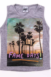 """Musculosa bebe """"Fame Days"""" -"""