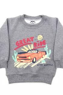 """Buzo bebe cuello redondo estampa """"Great Ride"""" -"""