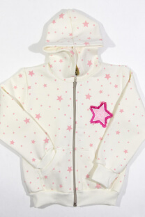 "Campera Bordada y Estampada ""GRLPWR"" -"