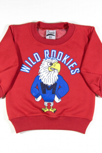 "Buzo cuello redondo estampa ""Wild Rookies"" -"