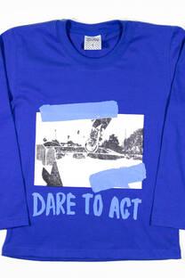 "Camiseta Varon ""Dare to Act"" -"