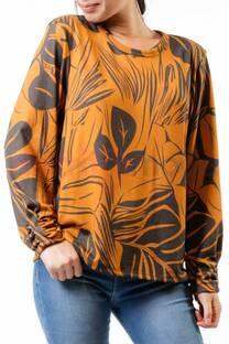 Blusa de Lanilla Estampada Detalle Puño  -