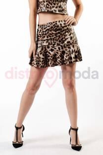Pollera Volado Leopardo  -