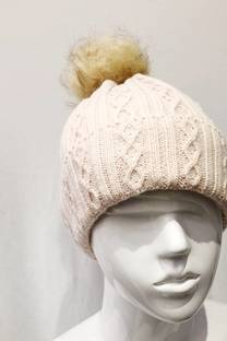 Gorro de lana con pelo -
