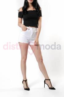Short Tiro Alto Blanco -