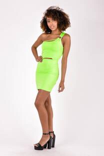 Vestido Neon con argolla -