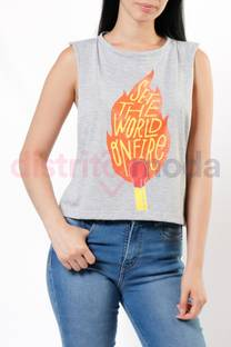 Musculosa Corta On Fire -