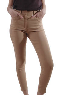 Pantalon de Bengalina Elastizada Lisa  -