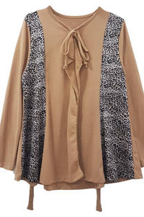 Blusa de lanilla combinada con tiras -