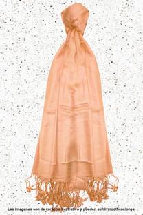 Pashmina lisa de hilo con flecos 75cm X 175cm -