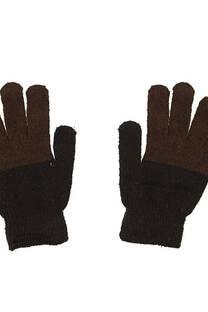 Guante unisex de lana doble color -