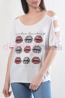 Remera Rolling Lips  -