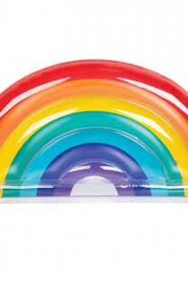 nflable / flotador gigante con forma de arcoiris. -