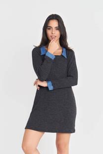 Vestido Combinado de Lanilla Morley -