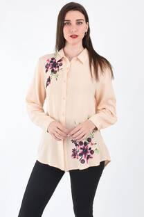Camisa bordada flores -