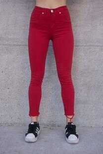 Pantalon chupin rojo -