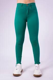 Pantalon verde chupin elastizado -