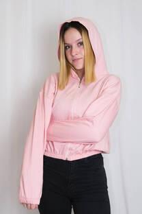 Campera rustico c/capucha y elastico cintura y manga -