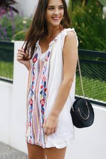 Vestido bordado FABIOLA -