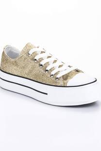 Zapatila Classic Glitter Oro -