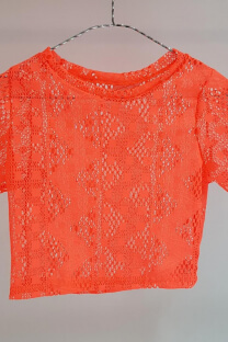 Remera red fluor m/c -