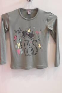 Camiseta estampa gatito Rock  -