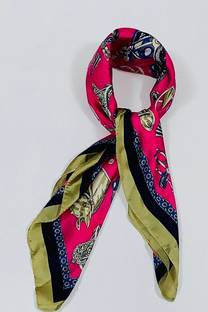 Pañuelo de seda 70x70 caballos -