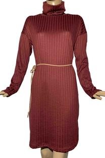 Vestido polera de morley canelón -