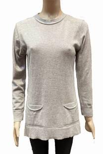Sweater largo con bolsillos -