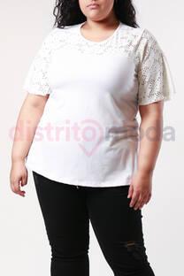 Blusa Combinada con Encaje -