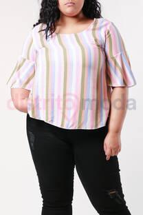Blusa Rayada de Fibrana -
