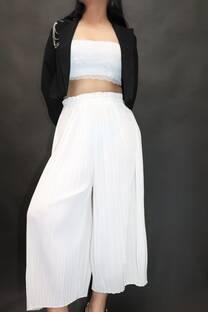 Pantalon plisado -