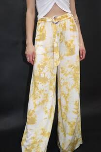 Palazo batik voil con hebilla -