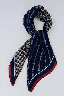 Pañuelo de seda 70x70 estampado  -