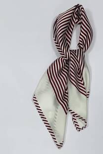 Pañuelo de seda 70x70 rayado  -