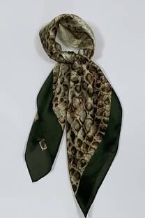 Pañuelo de seda 70x70 reptil  -