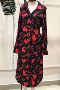 Maxi Camisa Vestido Flores medianas -