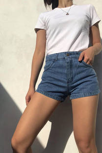 Short Tiro Alto Jean Rigido Kate -