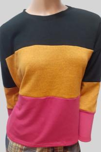Sweater de Lanilla Tricolor -