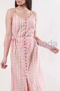 Vestido Lino Rayas -
