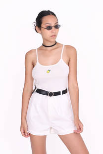 TOP MUSCULOSA CON BORDADO LIMON -