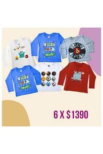 Pack x 6 prendas bebe -